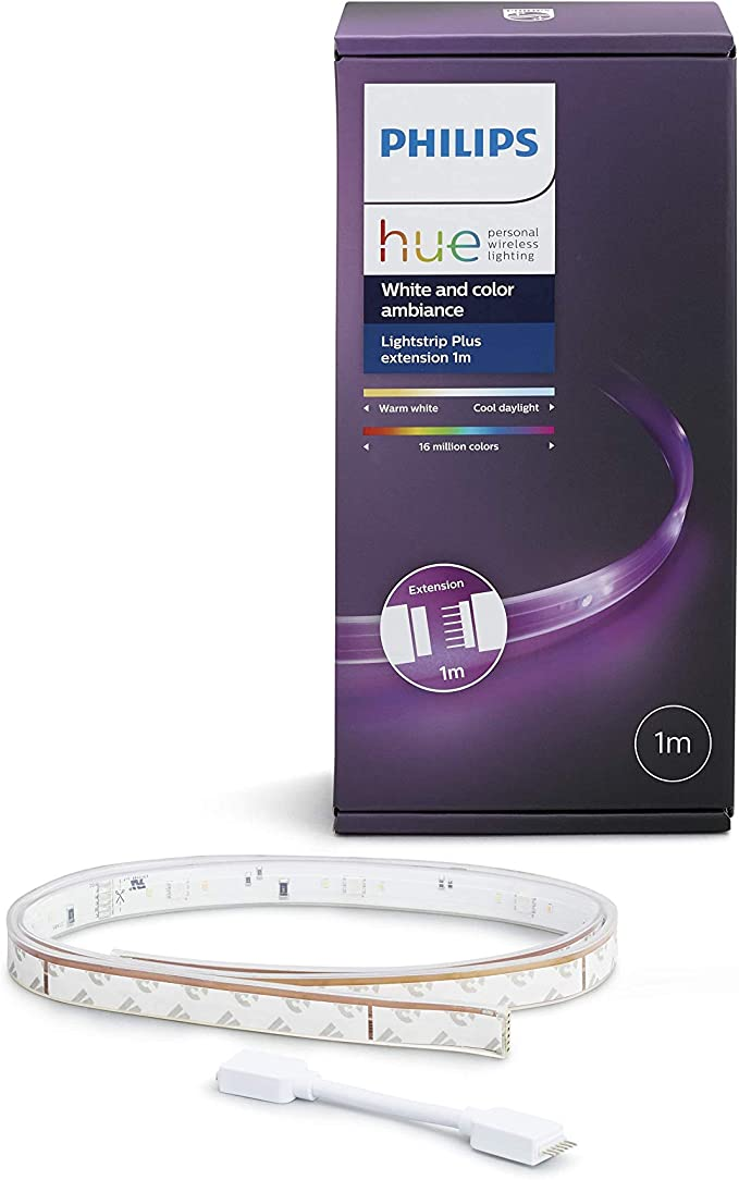 Philips Hue Lightstrip Plus, Tira Inteligente LED, 1m (Extensión ...
