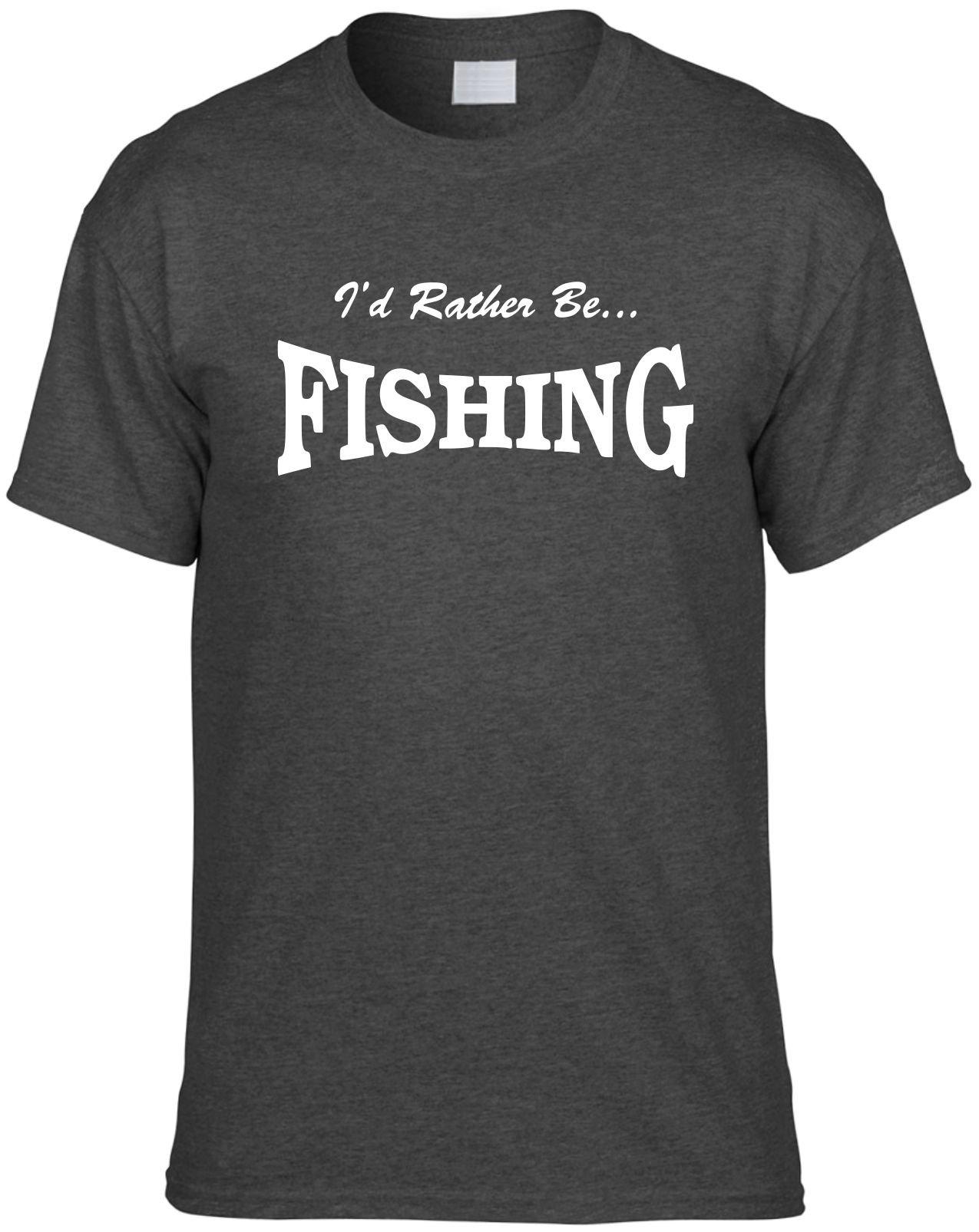 S Funny T Shirt I D Rather Be Fishing Novelty Unisex Shirt 1295