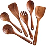 Kitchen Utensils Set,NAYAHOSE Wooden Cooking Utensil Set Non-stick Pan Kitchen Tool Wooden Cooking Spoons and Spatulas Wooden