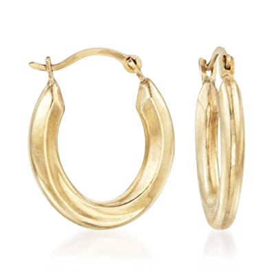 079e8eeb121541 Amazon.com: Ross-Simons 14kt Yellow Gold Small Oval Hoop Earrings: Jewelry