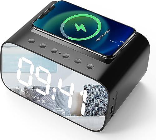 Lotuze Bedside Digital Bluetooth Alarm Clock