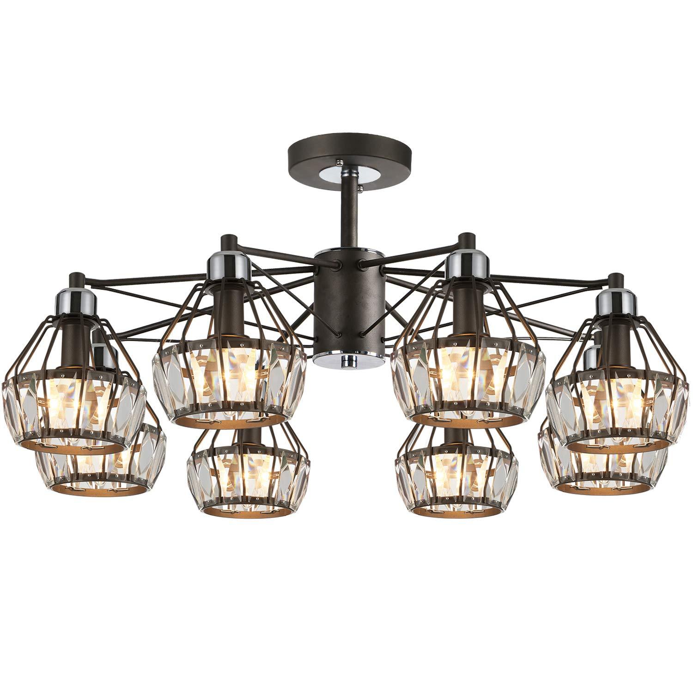 Solfart 7126 crystal black vanity lights chandelier lighting 8 lights chandelier