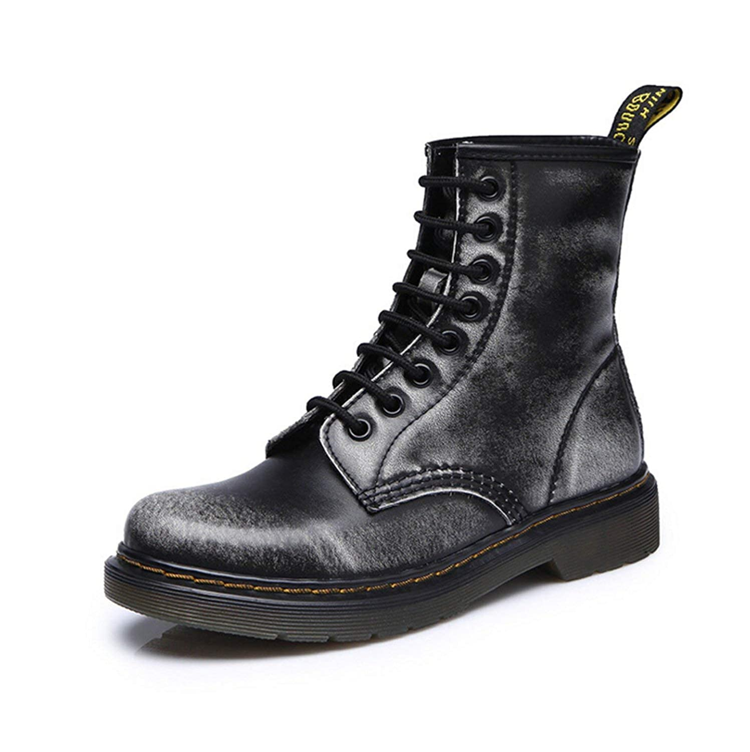 2019 Women Boots Dr Martin Boots Split Leather Shoes High Top Motorcycle Autumn Winter Shoe Woman Snow Boots ST50,Finished red,35