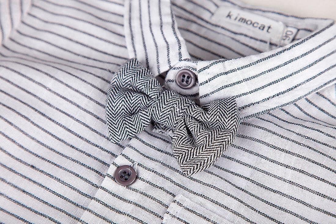 TM 2Pcs Baby Boys Gentleman Outfits Plaid Bow Tie Shirt+Suspenders Pants0-24 mos Memela Shop The Look