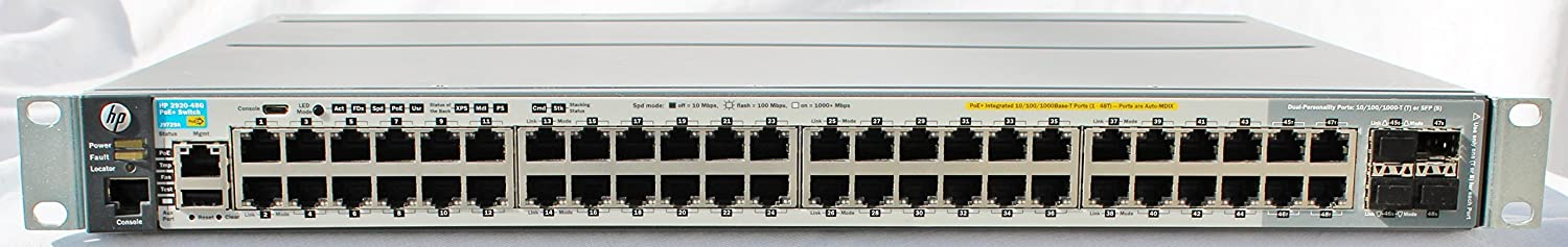 HP Aruba 2920-48G-POE+ Switch (J9729A)