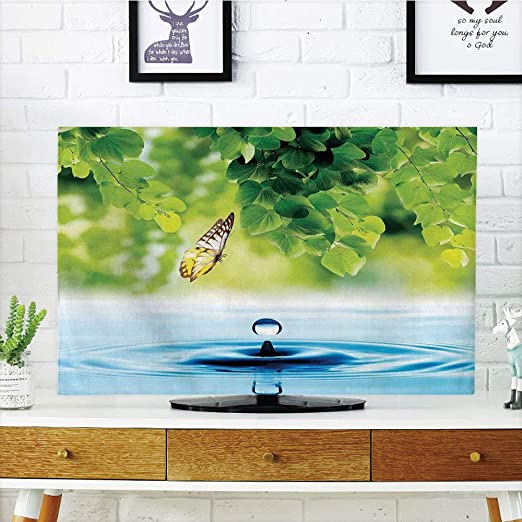 Cubierta de polvo para televisor LCD, mariposas, hada naturaleza ...
