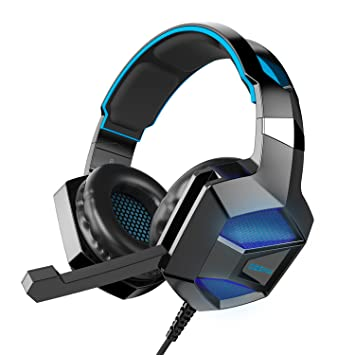 000452b444c COOAU Gaming Headset for PS4 Xbox One PC, Over-ear Game Headphones with  Microphone