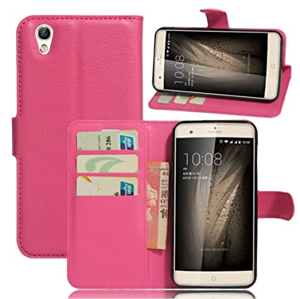 Amazon.com: ZTE Blade V7 Max Wallet Case, Premium PU Leather ...