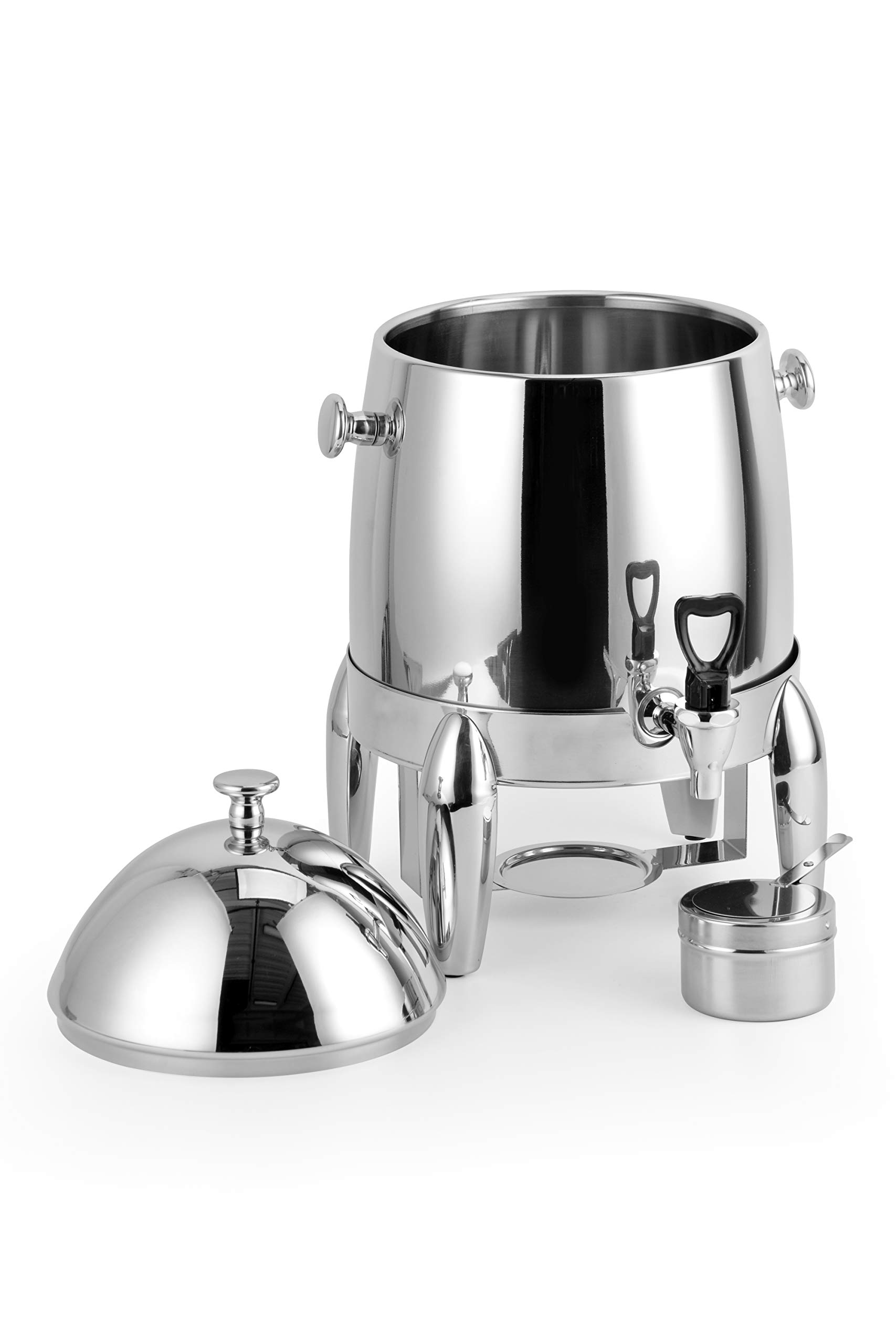 ChefMaid Extra heavy coffee urn 3 Gallon capacity - durable and long-lasting - stainless H/D base - includes a fuel holder - shiny silver surface by ChefMaid (Image #3)