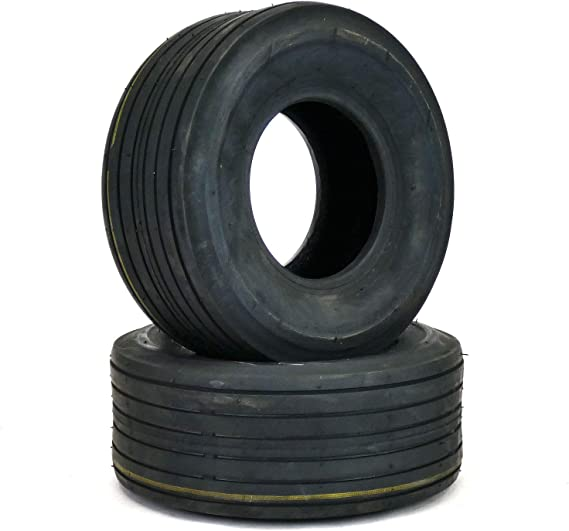 (2) 11x4.00-5 Rib Tires 4 ply Lawn Mower Garden Tractor 11-4.00-5