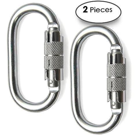 Aluminium Carabiner Clip Snap Hook Spring Climbing Karabiner D-hook Keychain