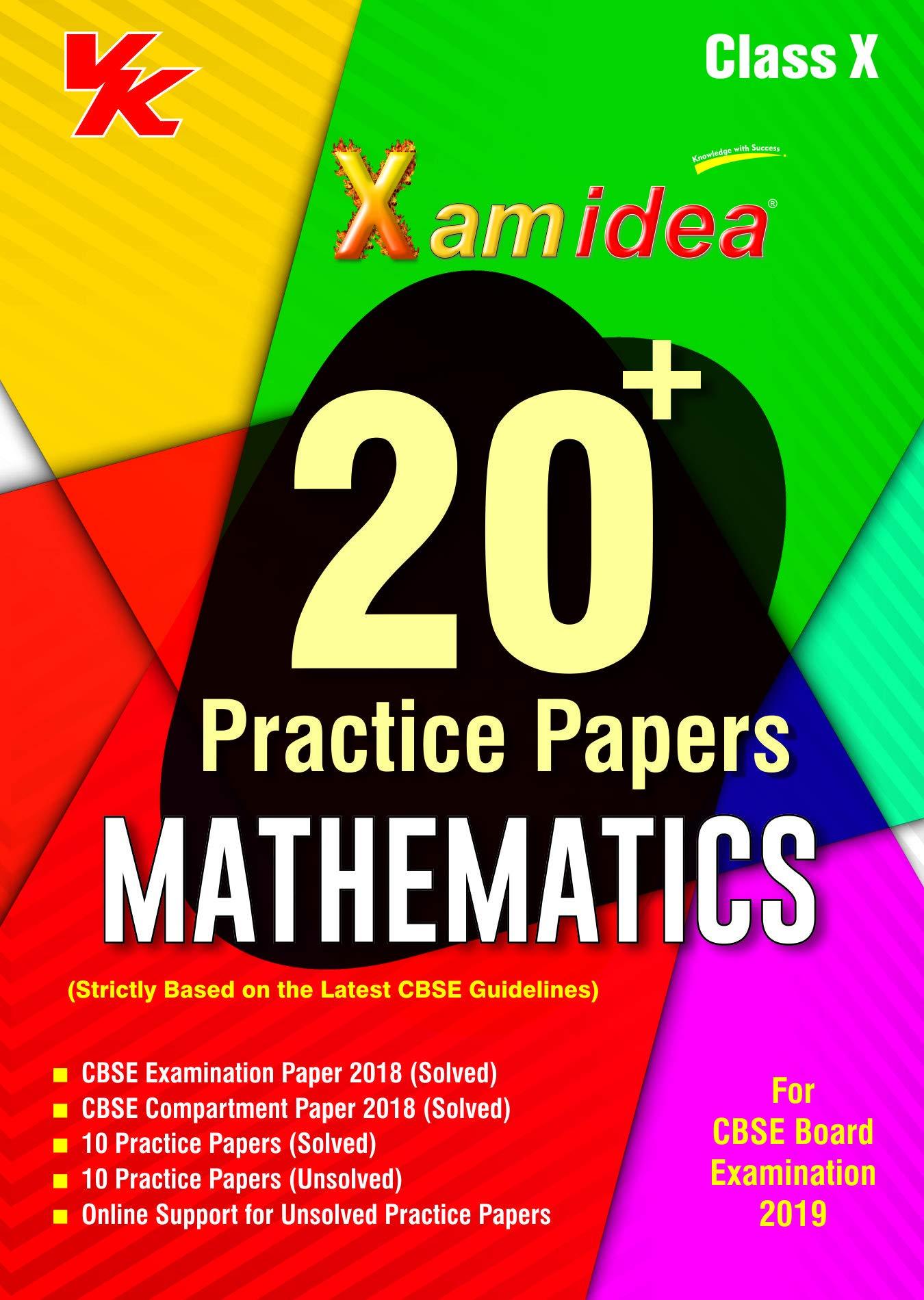 Xam Idea 20 Plus CBSE Sample Papers Mathematics Class 10 for