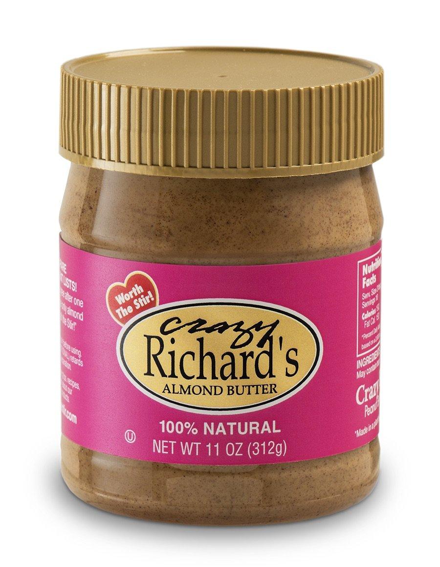 Crazy Richard's Natural Almond Butter - 11oz Jar