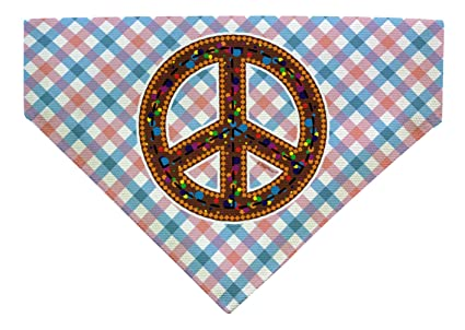 ThisWear Dog Bandana Peace Sign Bandana Unique Gifts for Dogs Funny Dog Clothes Dog Lover Gifts
