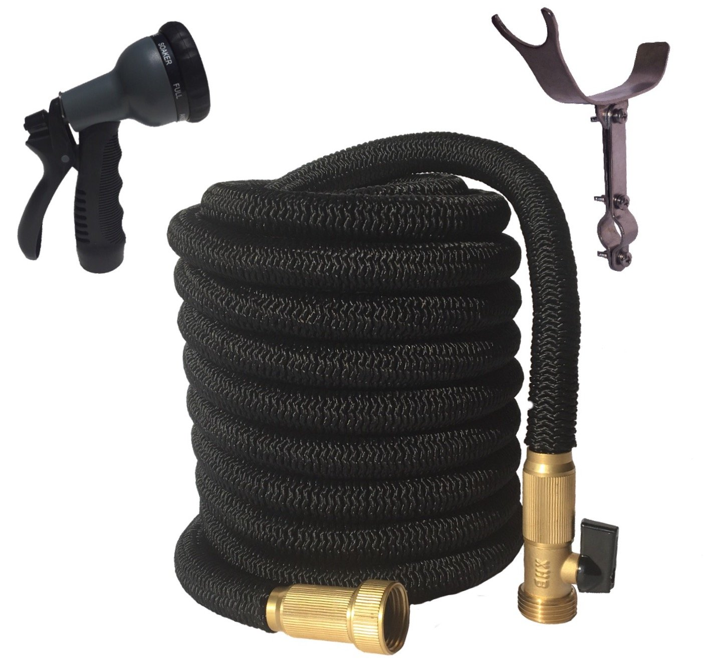 Black Expandable Garden Hose (75 Foot)