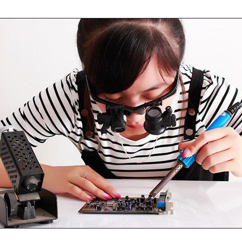 LDFN Lleva La Lupa Para La Evaluación Reparaciones De La Que Joyería Circuitos Electrónicos Que La Lupa,Negro 6b854b