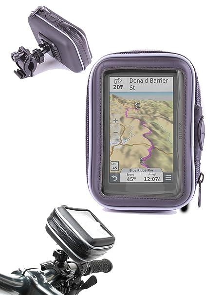 DURAGADGET Montaje Giratorio Para Bici De Montaña Y Funda Para Navegador GPS Garmin Zümo 590 LM
