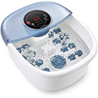 Foot Spa, Pedicure Foot Bath Massager with Heat, Bubble and Vibration, Digital Temperature Control (95-118℉) and…