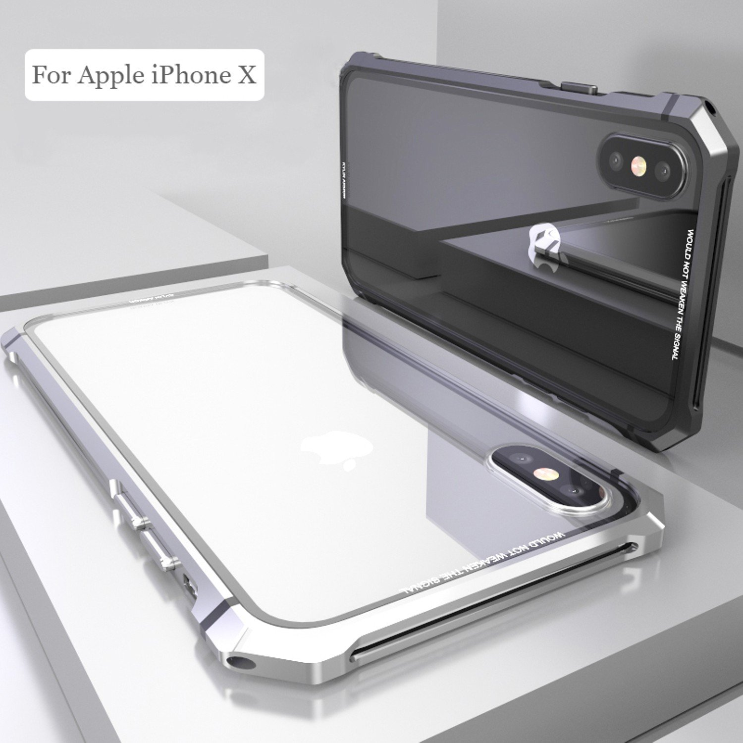 Amazon.com: Carcasa para iPhone X de color negro con ...