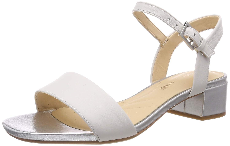 Bianco (bianca Combi Leather -) Clarks Orabella Iris, Seali con Cinturino tuttia Caviglia Donna