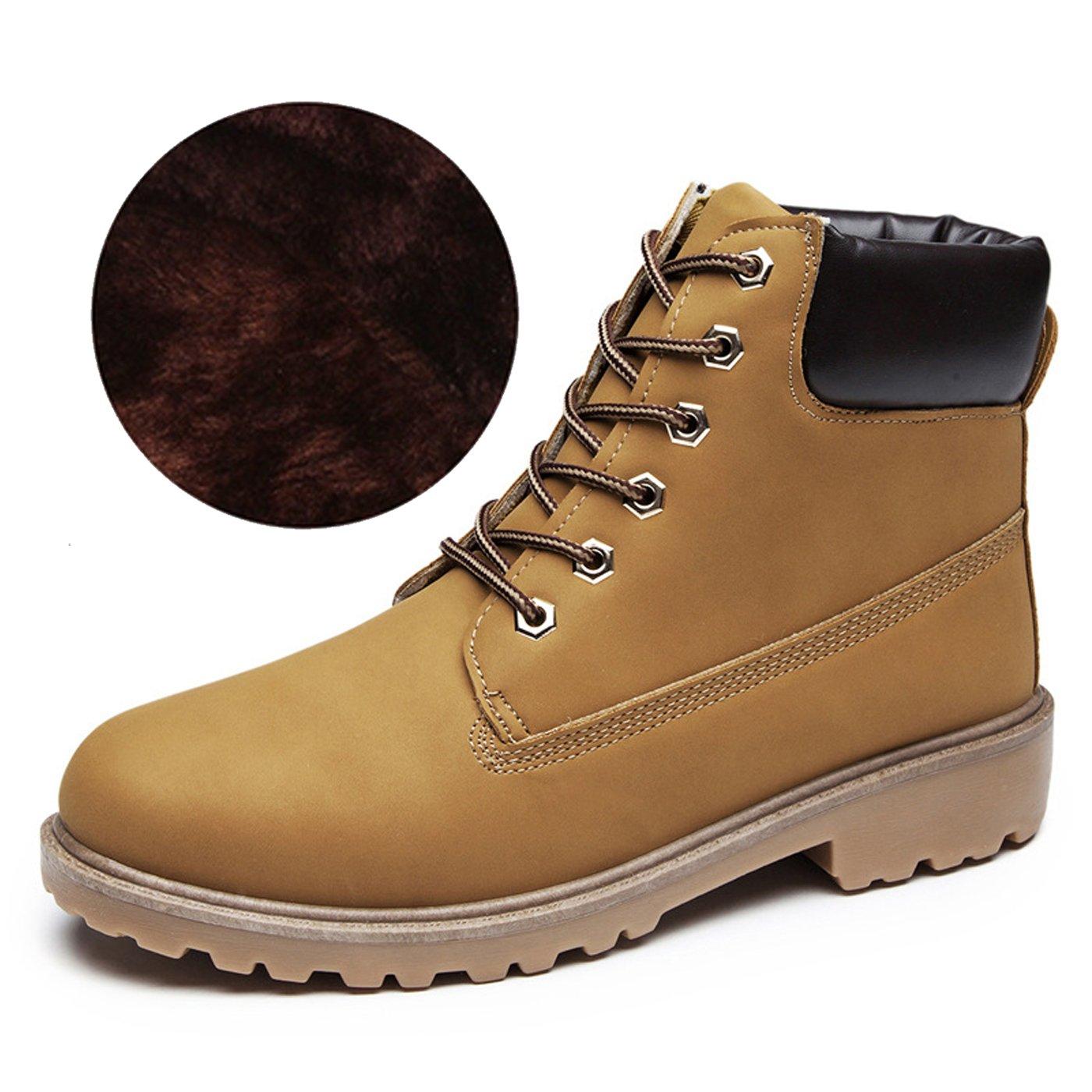 CHNHIRA Martin 10463 de Bottes Laine Boots de Cheval Chaussures Jaune Laine de Randonnée Couples Chaussure Montantes Femme Jaune F ddbf780 - reprogrammed.space