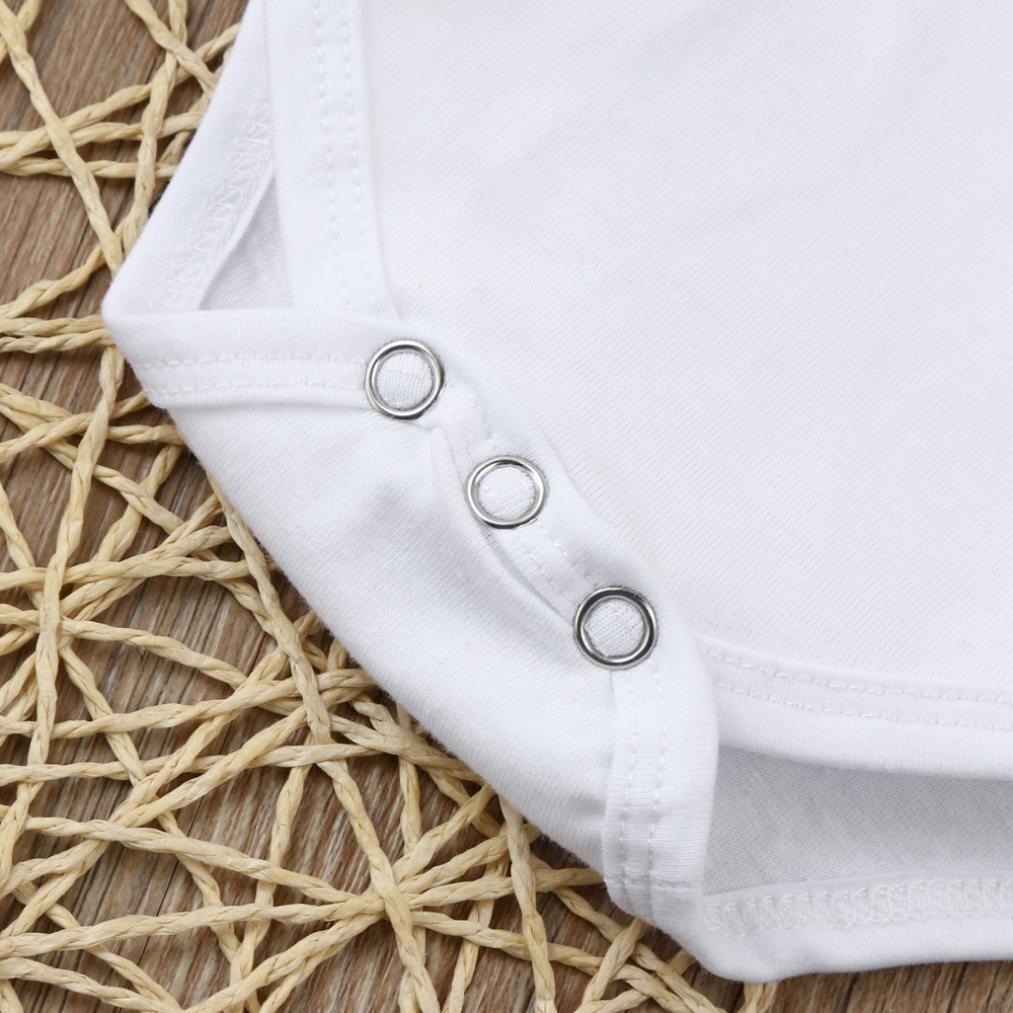 Tama/ño:0-6Mes, Blanco Ropa beb/é Amlaiworld Beb/é ni/ño reci/én nacido letra mameluco pantalones 3pcs ropa trajes conjunto 0-24 Mes