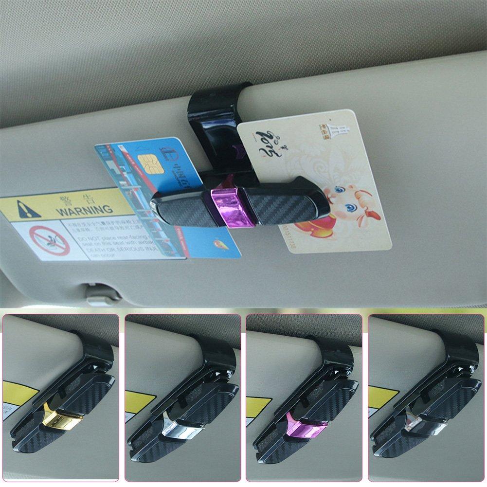 TR.OD Car Auto Card Ticket Holder Sun Visor Glasses Sunglasses Clip Universal Sliver