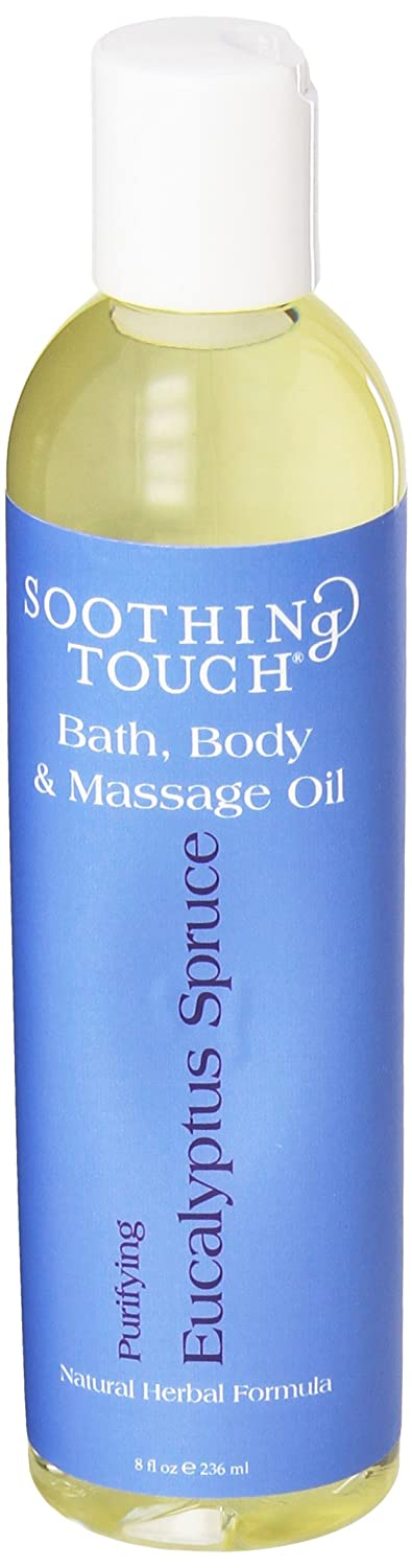 Soothing Touch W67366ES Bath and Body Oil Eucalyptus Spruce, 8-Ounce 3B Scientific