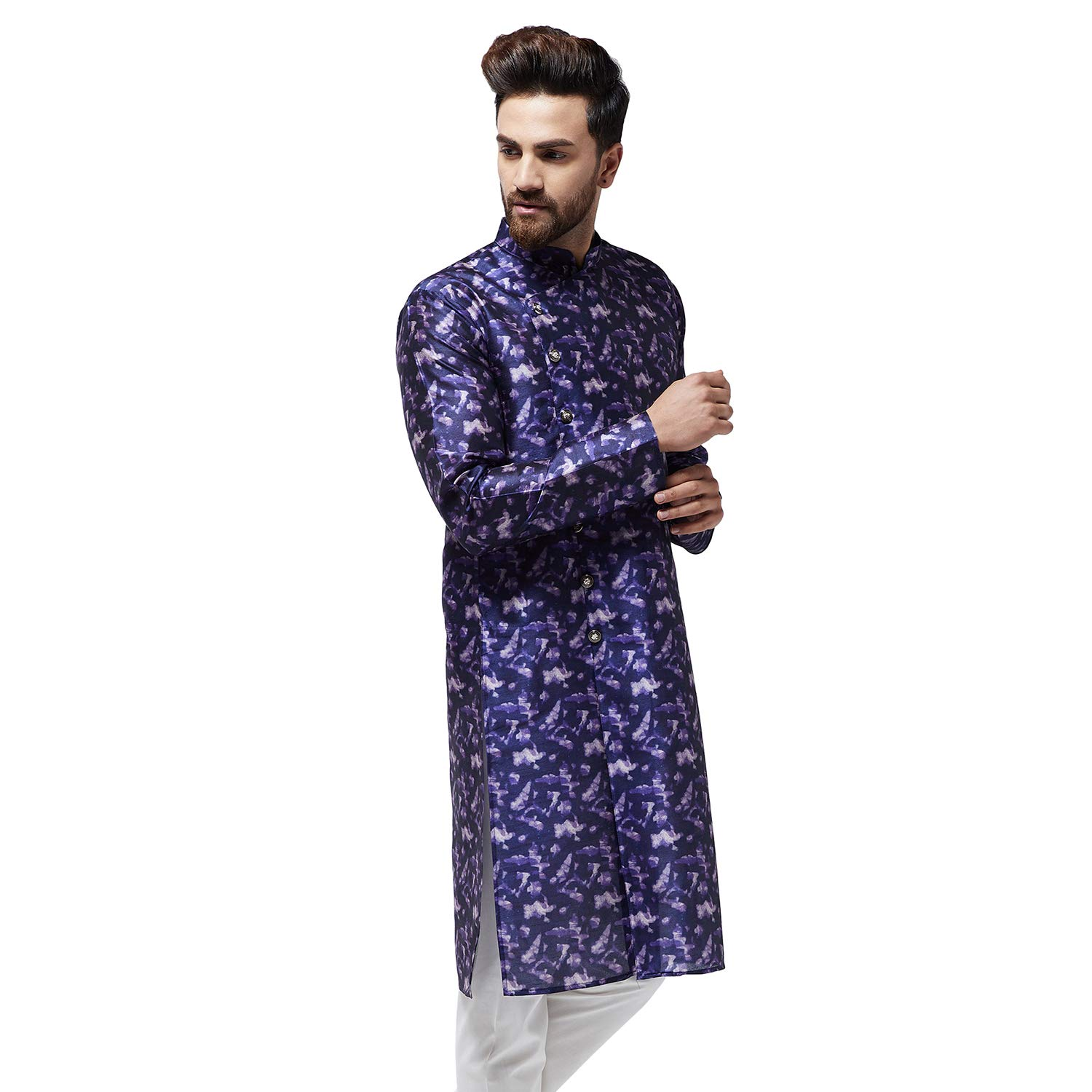 Festival-Men-Dupion-Silk-Kurta-Pajama-Ethnic-Party-Wear-Bollywood-Dress-Pyjama thumbnail 31