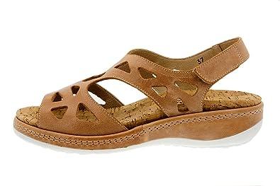 PieSanto Chaussure Femme Confort en Cuir 1813 Sandales à Semelle Amovible Confortables Amples DlkNk
