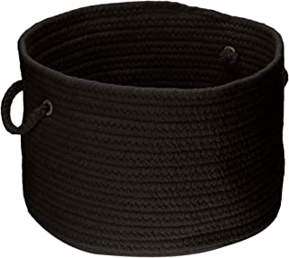 product image for Colonial Mills WL05 18 by 18 by 12-Inch Bristol Storage Basket, Black
