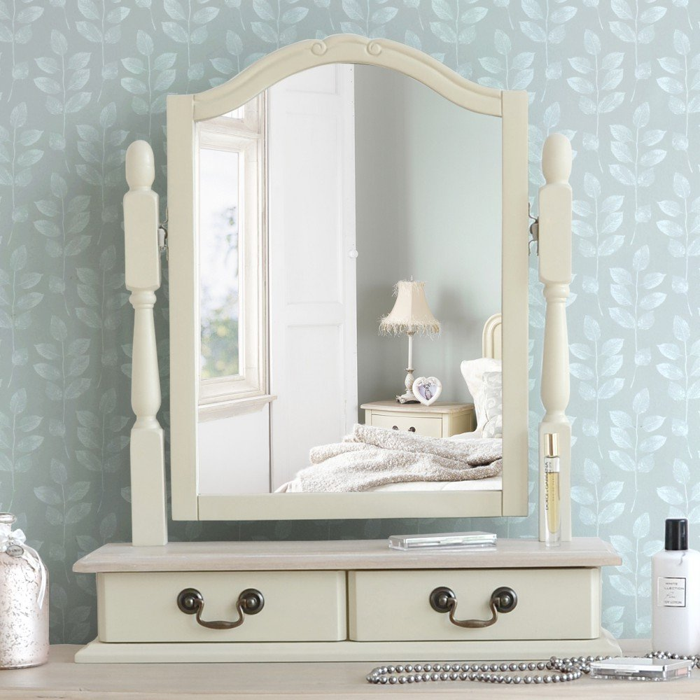 Shabby chic champagne furniture cream chest of drawers dressing - Juliette Shabby Chic Champagne Trinket Mirror Cream Dressing Table Mirror With 2 Drawers Adjustable Angle Mirror Amazon Co Uk Kitchen Home