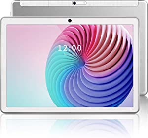 Tablet 10 inch Android 9.0 Octa-Core Tablets Pie 32GB Storage 5Ghz WiFi 1920x1200 FHD Tablet 5MP Rear Camera, Google,GPS,FM White Gaming Tablet PC