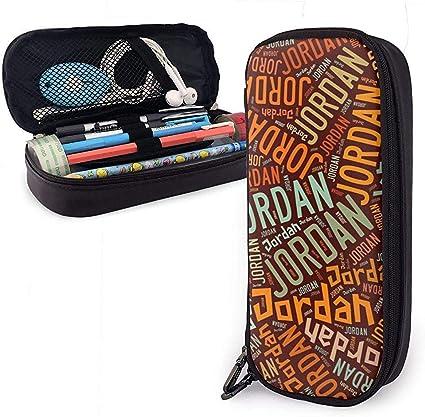 Jordan - Estuche de lápices de cuero American High Capacity de alta capacidad, estuche para lápices, estuche grande, estuche de almacenamiento, estuche de papelería para estudiantes: Amazon.es: Oficina y papelería