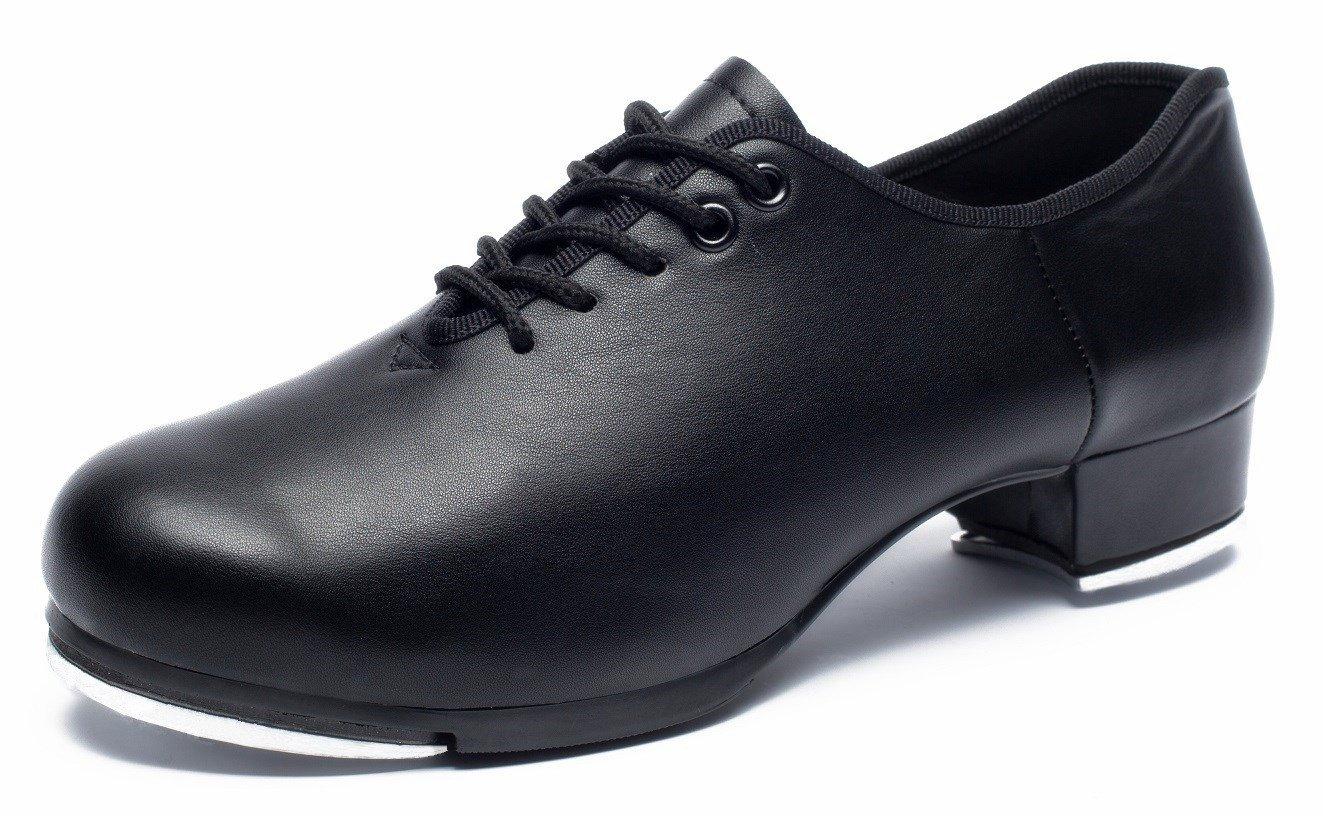 joocare Women's Lace-up Jazz Tap Dance Shoes (Adult/Unisex for Big Kid) (10US/43,Black)