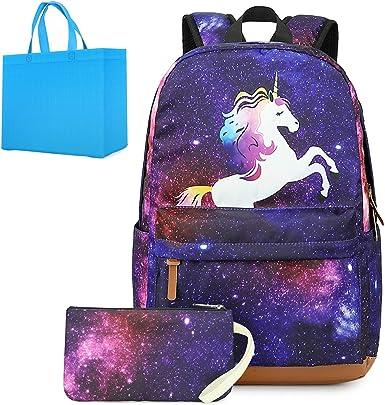 Silver Hologram Unicorn Backpack Cool Teen School Backpack