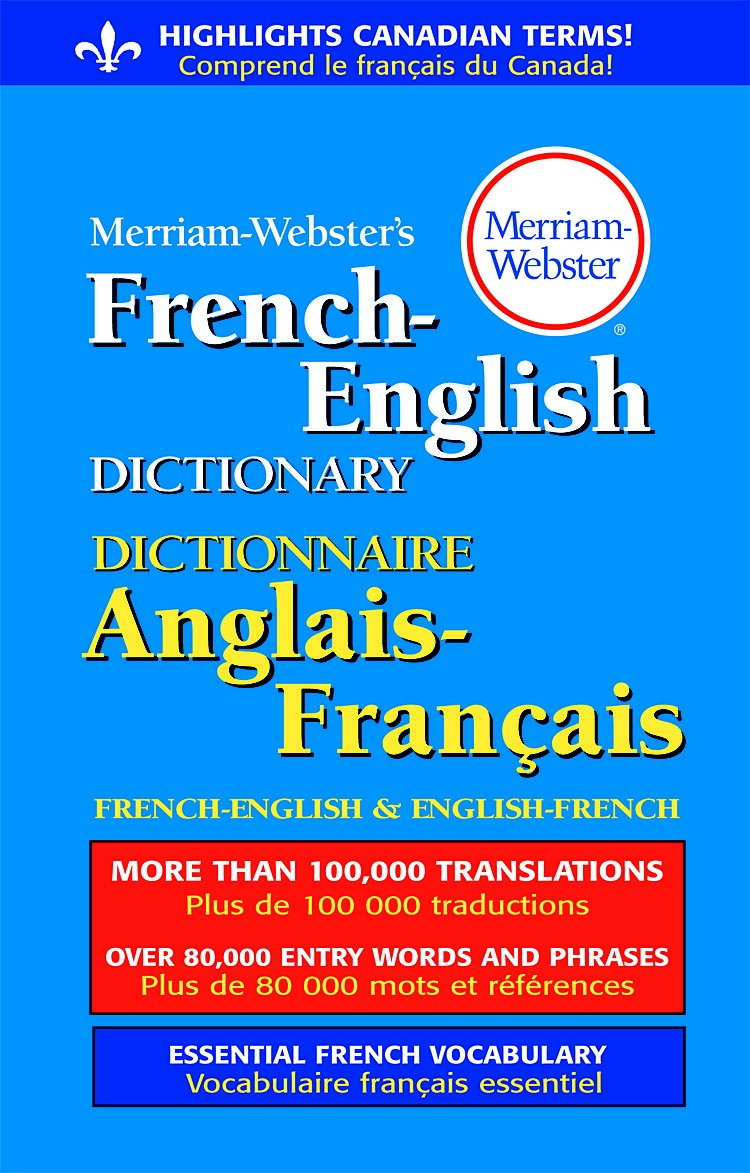 Amazon.com : Merriam-Webster French-English Paperback Dictionary : Office  Products