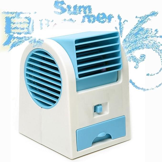 Mano eléctrica Mini Turbo ventilador sin aspas aromaterapia ventilador USB o pilas operado azul: Amazon.es: Hogar