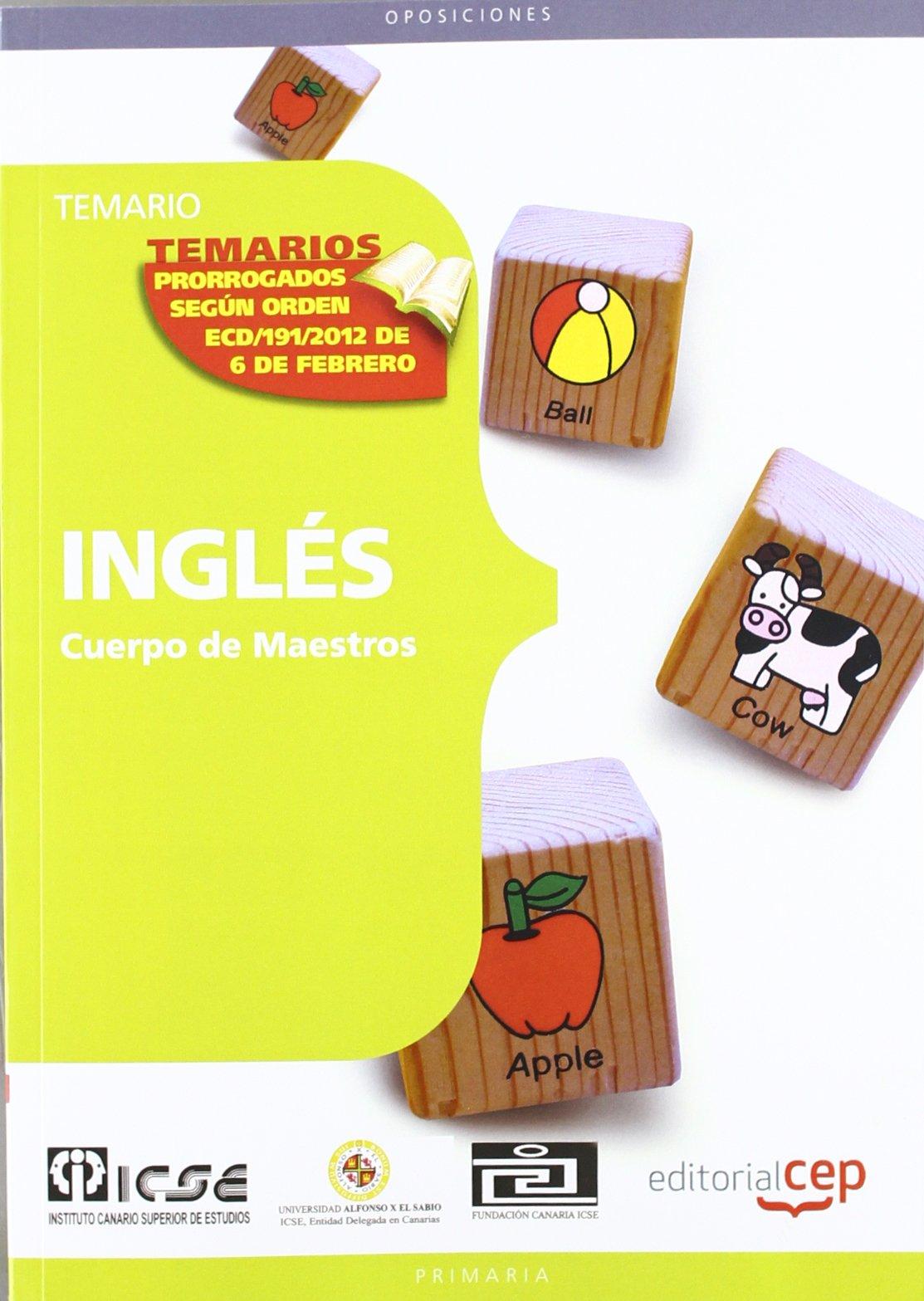 Download Cuerpo de maestros. Inglés. Temario pdf epub
