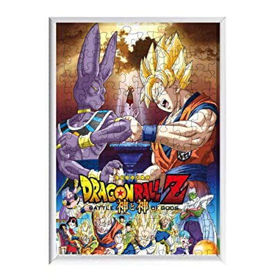 Salemor Dragon Ball Z Anime DIY Photo Frame Jigsaw Puzzles 120-piece Mosaic Art Children Parent-Child Puzzle Small Particles Assembled Toys(H07): Arts, Crafts & Sewing