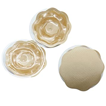 37bbbbea3e Amazon.com   Buorsa 2 Pairs Reusable Adhesive Invisible Silicone Self  Nipple Cover Pad Breast Petals Pasties for Women   Baby