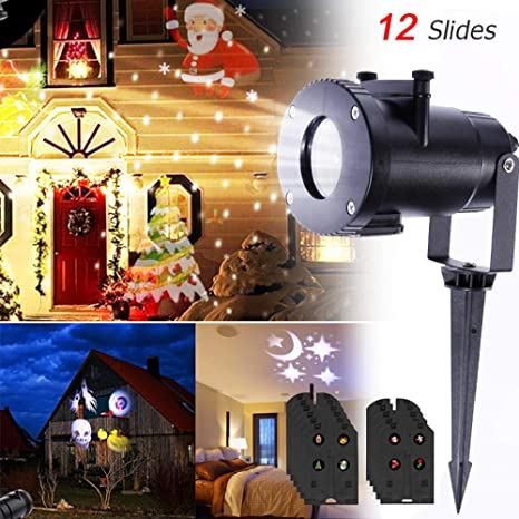 Proyector De Navidad Luces Led Nevadas Luces Nocturnas Copos De ...