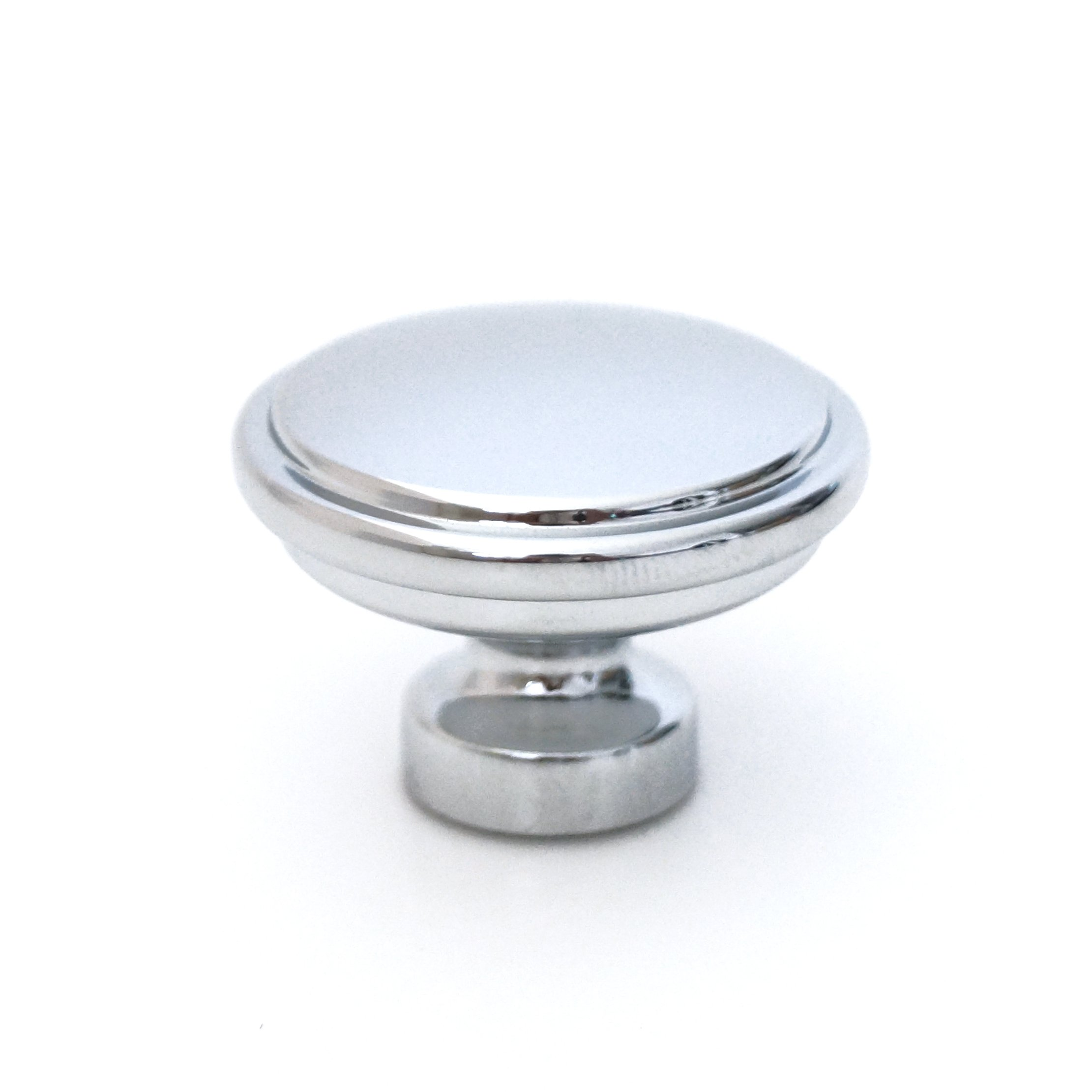 (Qty 1 per Package) Kruse Hardware - Milano Door and Drawer Knob - 1-1/4in Diameter, Polished Chrome