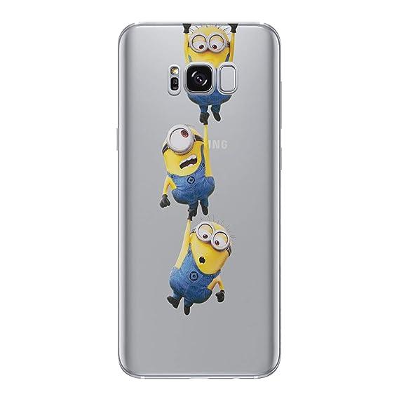lowest price b8613 e8a72 Amazon.com: Galaxy S7 Edge Minions Silicone Phone Case / Gel Cover ...