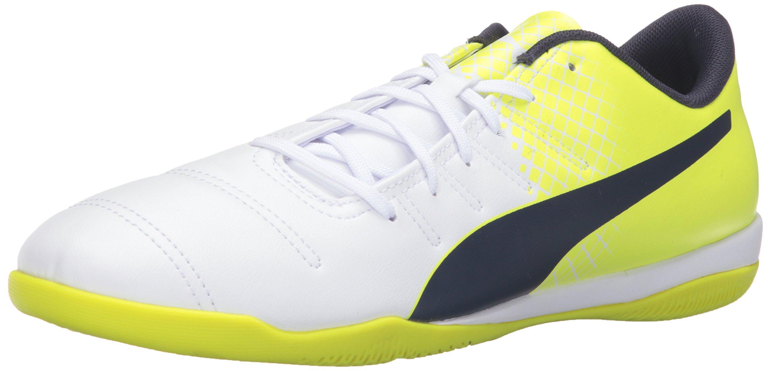 PUMA Men's Evopower 4.3 Tricks IT Soccer Shoe, White/Peacoat/S, 8.5 M US