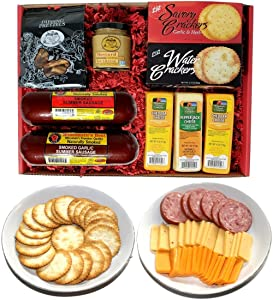 WISCONSIN'S BEST & WISCONSIN CHEESE COMPANY - Deluxe Gift Basket- Sausage, 100% Wisconsin Cheese, Crackers, Pretzels & Mustard. Best Birthday Gifts, Gourmet gifts Delivered!