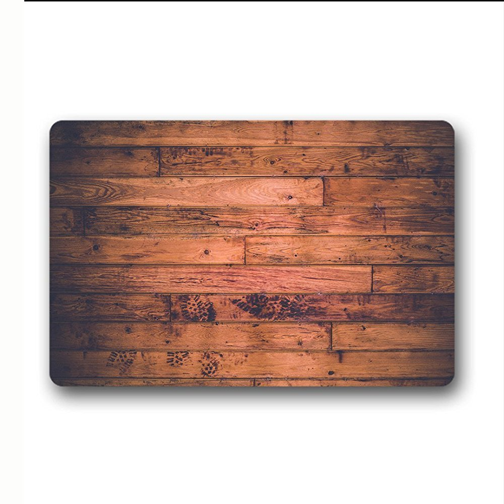 Design Wood Multipurpose Home Decor Non Slip Entryway Rug Floor Carpet for Apartment Garage Kitchen 23.6 X 15.7inch