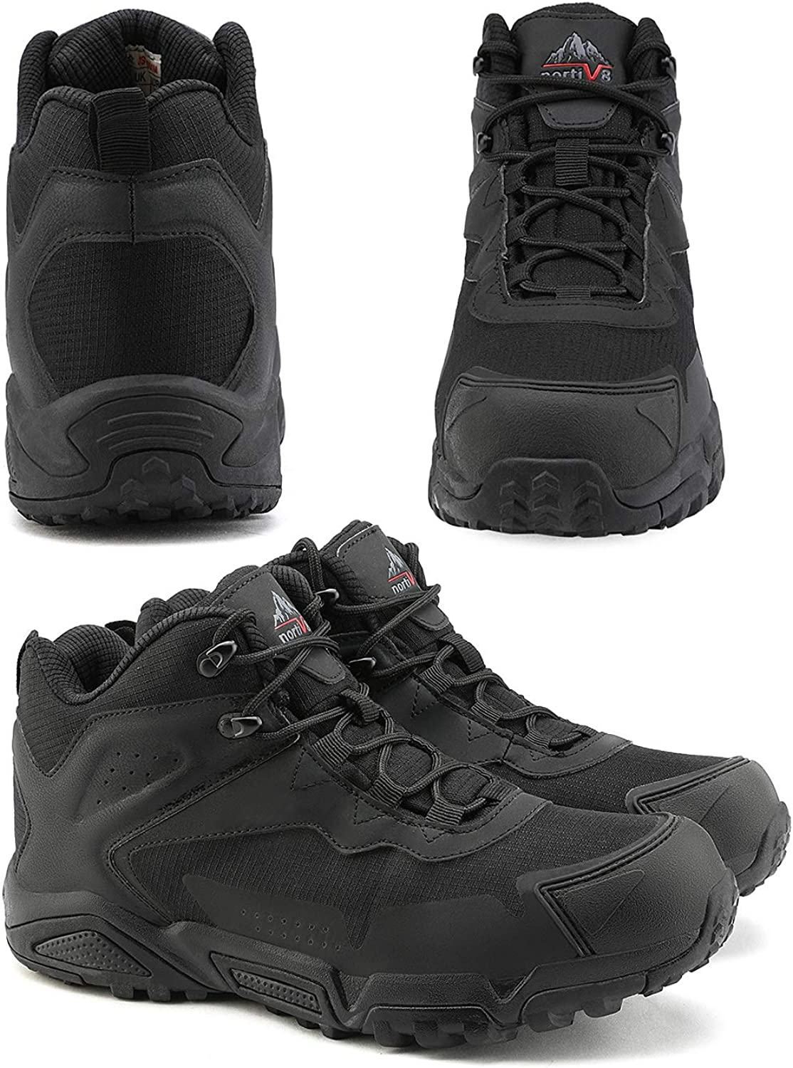 NORTIV 8 Mens Waterproof Hiking Boots Lightweight Mid Trekking Shoes