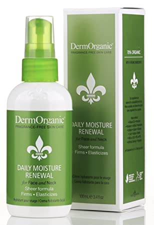 DermOrganic Daily Moisture Renewal for Face Neck, 3.4 fl.oz
