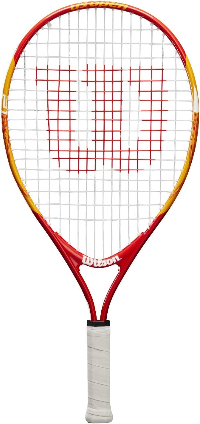 Wilson WRT20310U US Open 21, Raqueta de Tenis para niños, Amarillo/Rojo, para niños con Altura de 100 cm a 115 cm